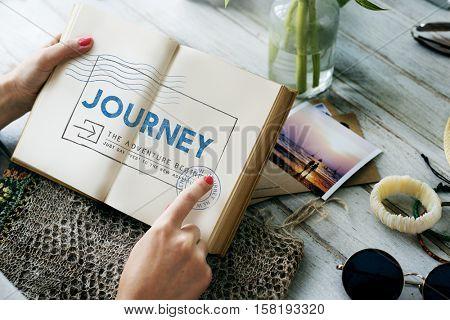 Journey Adventure Post Stamp Travel
