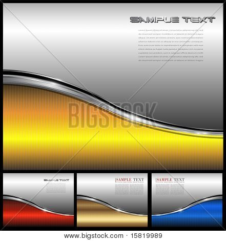 Abstract business background elegant metallic, vector.