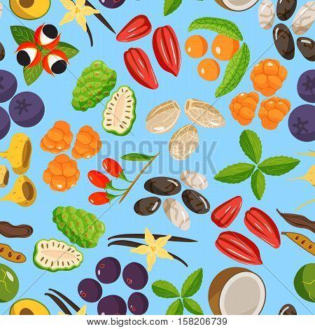 Vegetarian superfood healthy and vegetable seamless pattern eco food. Fresh healthy organic. Traditional gourmet nutrition. Vegetarian super food healthy vegetable eating