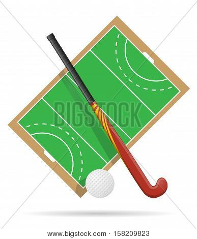 field of play in hockey on grass vector illustration isolated on white background