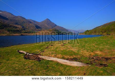 Scottish highland Loch Loch Leven Scotland west of Kinlochleven and just off B863 south of Ben Nevis