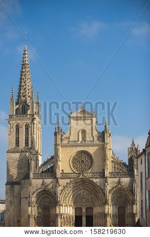 France the cathedral of Bazas in Gironde Aquitaine