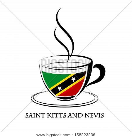 coffee logo made from the flag of Saint Kitts and Nevis