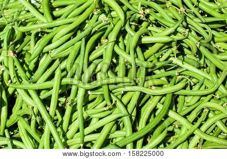A pile of green beans at Market