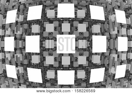 abstraction plane white box background 3d illustration