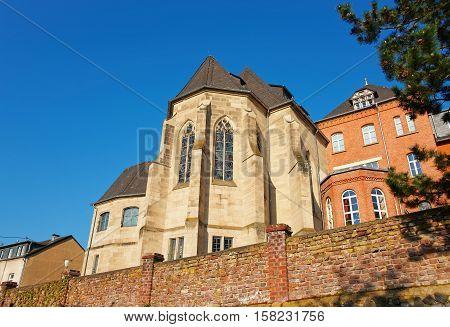 Ancient Castle In Linz Am Rhein Germany