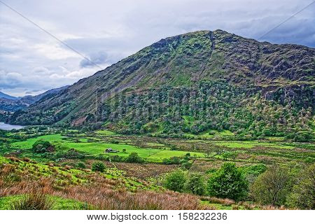 Beautiful Panoramic View Of Chain Of Mountains Snowdonia National Park