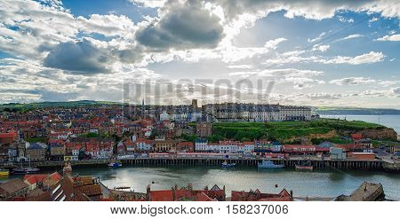Coast Of North Sea In Whitby Of North Yorkshire Uk