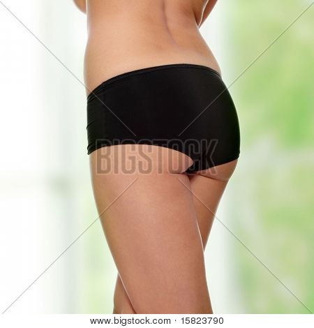 Perfect shape of woman's buttocks