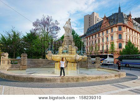 Fairy Tale Fountain In Frankfurt