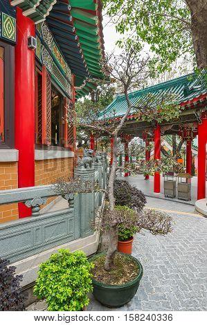Fragment Of Wong Tai Sin Temple Of Kowloon In Hong Kong