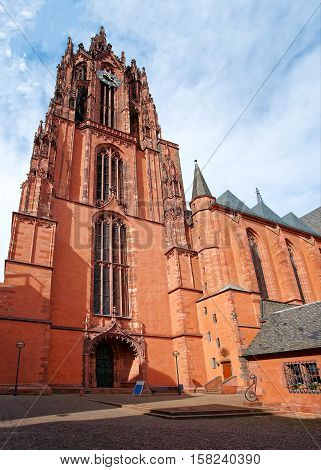 Frankfurt Cathedral In Frankfurt Am Main Germany