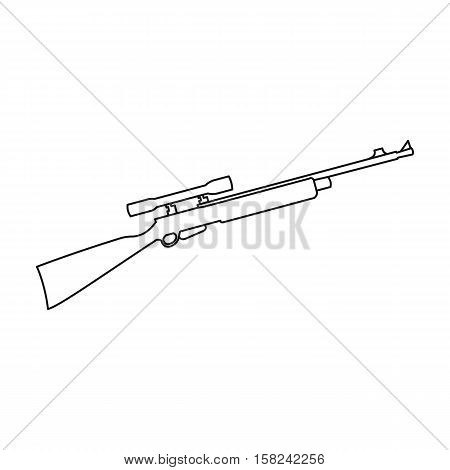 Rifle sniper gun icon outline. Single weapon icon from the big ammunition, arms outline.