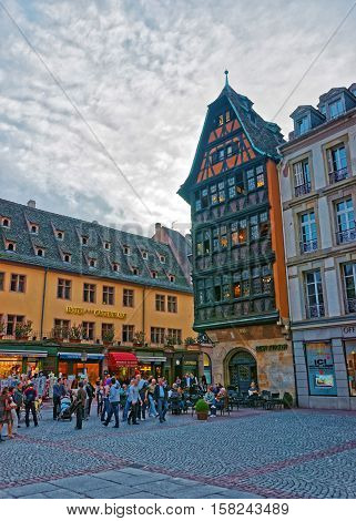 Kammerzell House On Cathedrale Square In Strasbourg In France