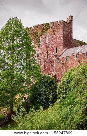 Old Castle In Brecon At Brecon Beacons Of Wales