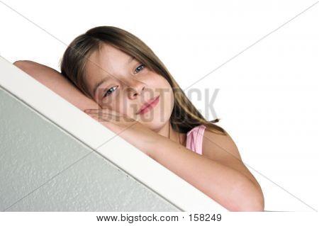 Little Girl Leaning