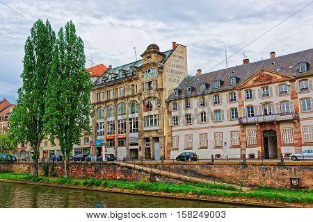 Paris Quay In Strasbourg In France