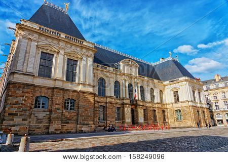 Parliament Of Brittany Region In Rennes In France