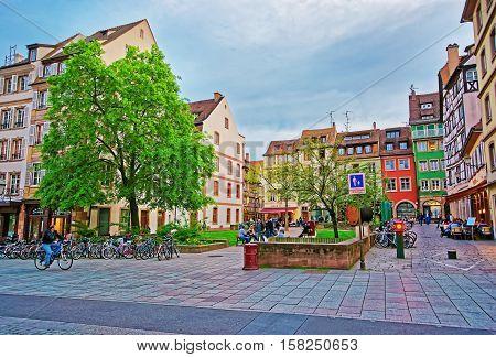 Place Des Tripiers Square In Strasbourg
