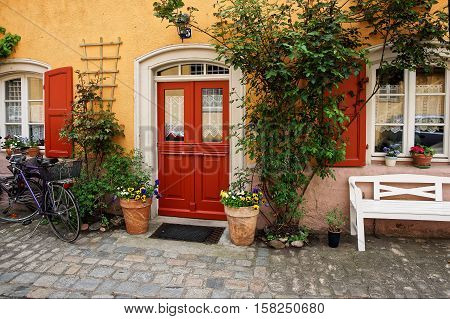Plants Decoration Of House Of City Center Old Bamberg Germany