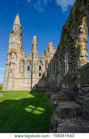 Remainings Of Whitby Abbey Of North Yorkshire In The Uk