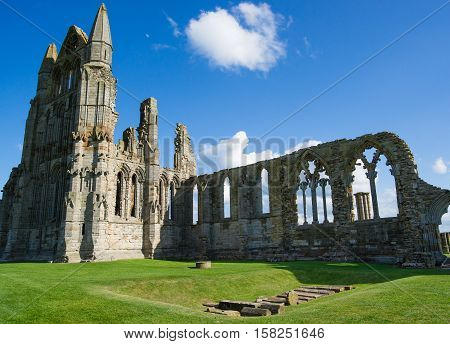 Remainings Of Whitby Abbey In North Yorkshire The Uk