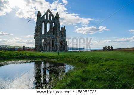 Ruins Of Whitby Abbey In North Yorkshire In The Uk