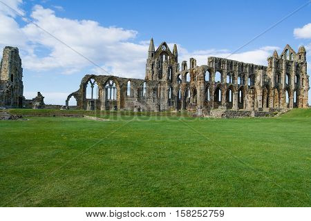 Ruins Of Whitby Abbey In North Yorkshire Of The Uk