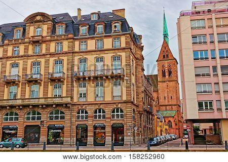 Saint Peter Church In Strasbourg Of France