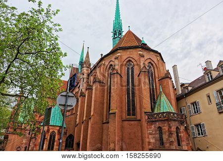 St Peter Church In Strasbourg Of France