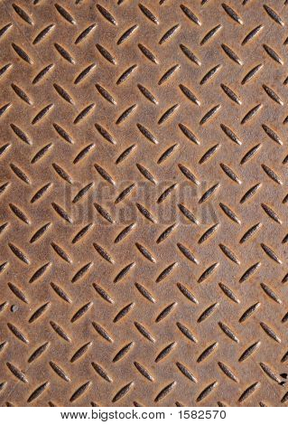 Rusty Metal Floor Cover Background.
