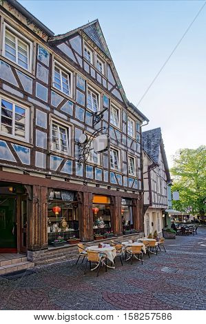 Timber Houses In Town Center In Linz Am Rhein Germany