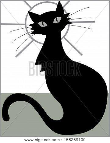 cat animal kitten beautiful cute mammal illustration pet isolated domestic whisker pets drawing posing Ukraine