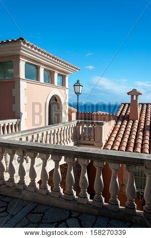 House on the coast of Majorca in Spain ( Balearic Islands )
