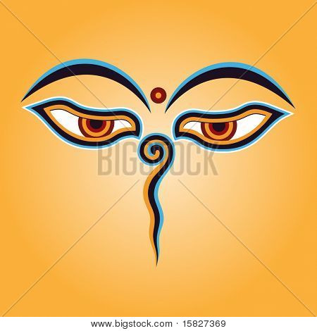 Buddha eyes Vector