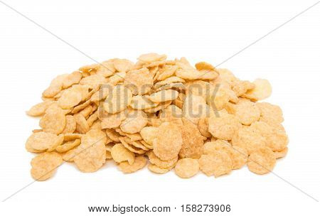 cereal for breakfast on a white background