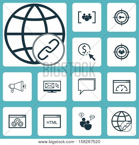 Set Of Marketing Icons On Questionnaire, Seo Brainstorm And Coding Topics. Editable Vector Illustrat