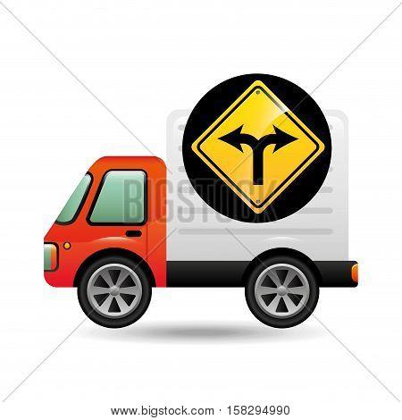 fork traffic sign concept vector illustration eps 10