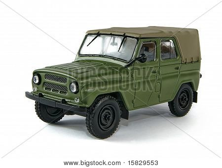 Toy miniature model of a military SUV