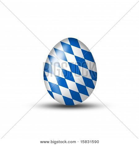 Bavarian Egg With Typical Pattern