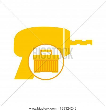 portable tool box drill icon vector illustration eps 10