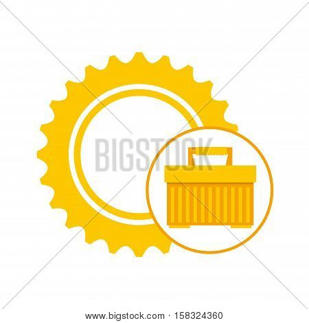 plastic tool box gear construction vector illustration eps 10