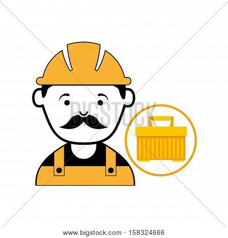plastic tool box worker construction vector illustration eps 10