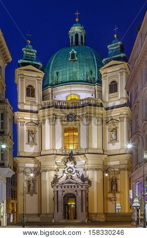 St. Peter's Church (Peterskirche) is a Baroque Roman Catholic parish church in Vienna Austria