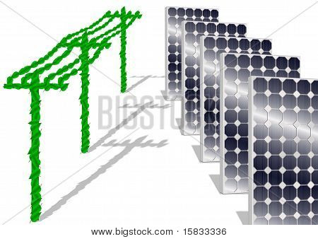solar panels and electricity