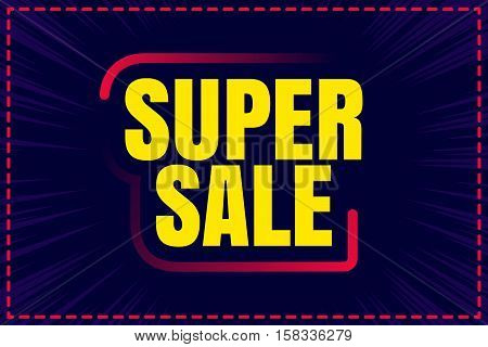 Big sale. Sale tag. Sale poster. Sale vector. Super Sale and special offer. 50 off. Can use for promotion.