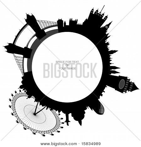 Ring - London Skyline - Vector