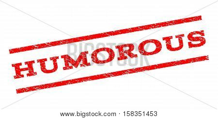Humorous watermark stamp. Text caption between parallel lines with grunge design style. Rubber seal stamp with scratched texture. Vector red color ink imprint on a white background.
