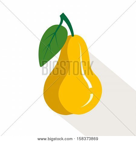 Pear. Ripe, juicy fruit. Color vector illustration