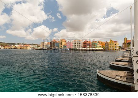 The Queen Emma Bridge is a pontoon bridge across St. Anna Bay in Curaçao.